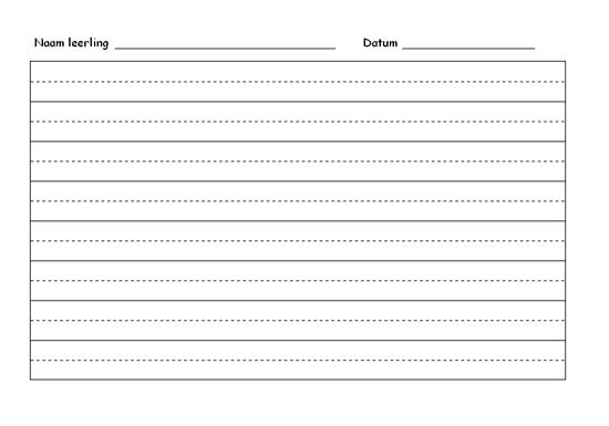Oefenpapier voor handschrift