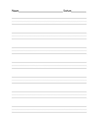 Oefenpapier voor gemiddeld afdrukken