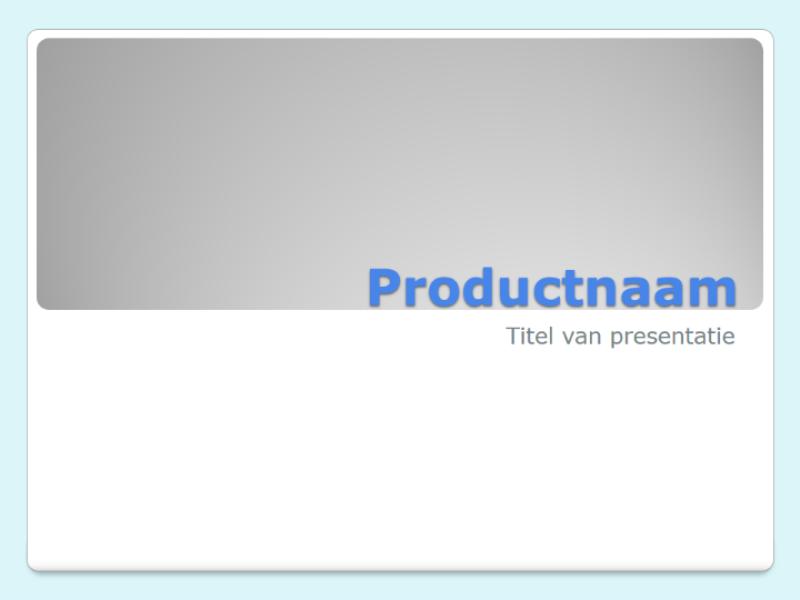 Productoverzicht