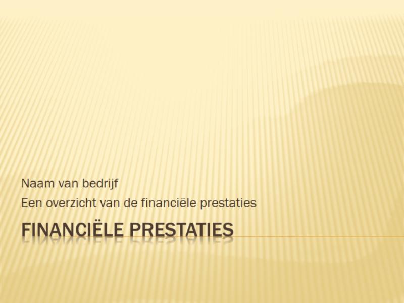 Presentatie over financiële prestaties