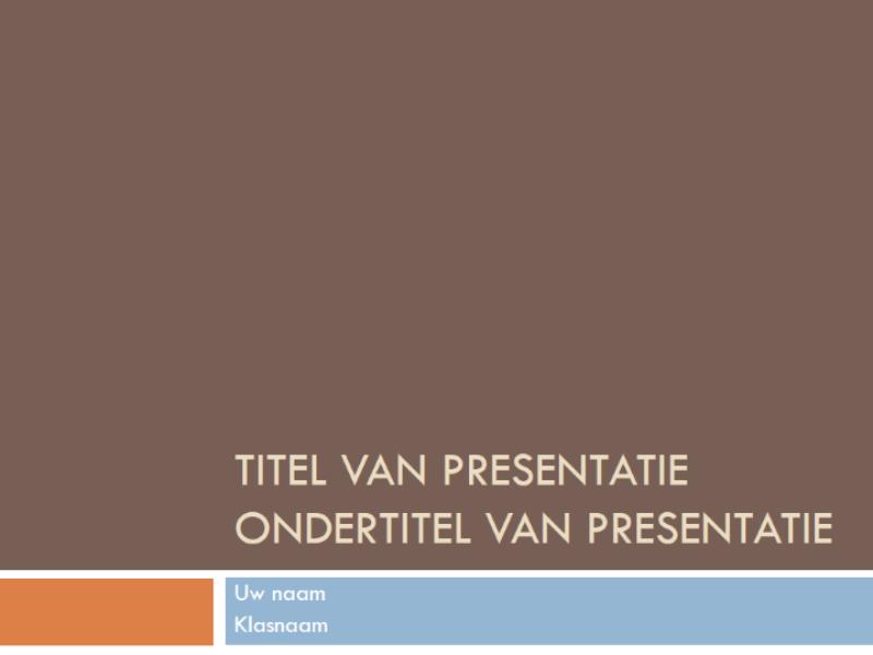 Presentatie van de leerling