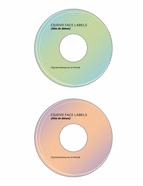 Etiketten voor cd's/dvd's