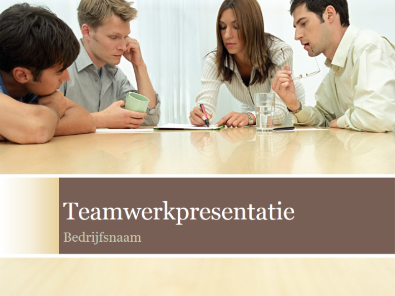 Teamwerkpresentatie