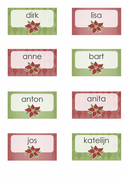 Plaatskaartjes voor de feestdagen (werken met Avery 8371, 8376, 8377, 8811)