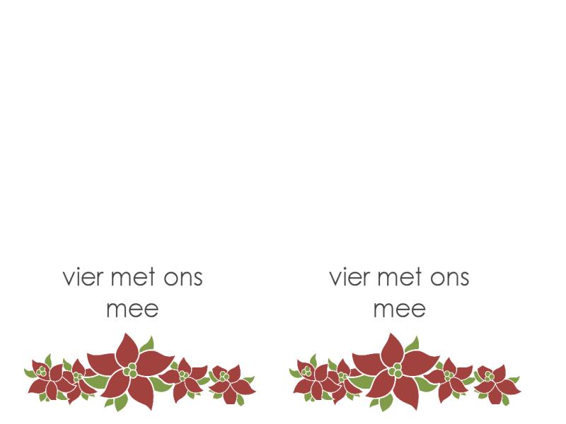 Uitnodiging voor feest (kerststerontwerp)