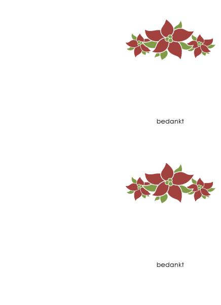 Bedankkaart (kerststerontwerp)