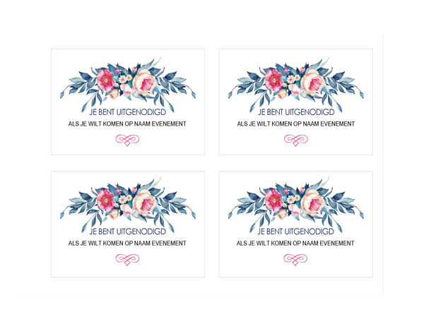 Party invitation (floral design)