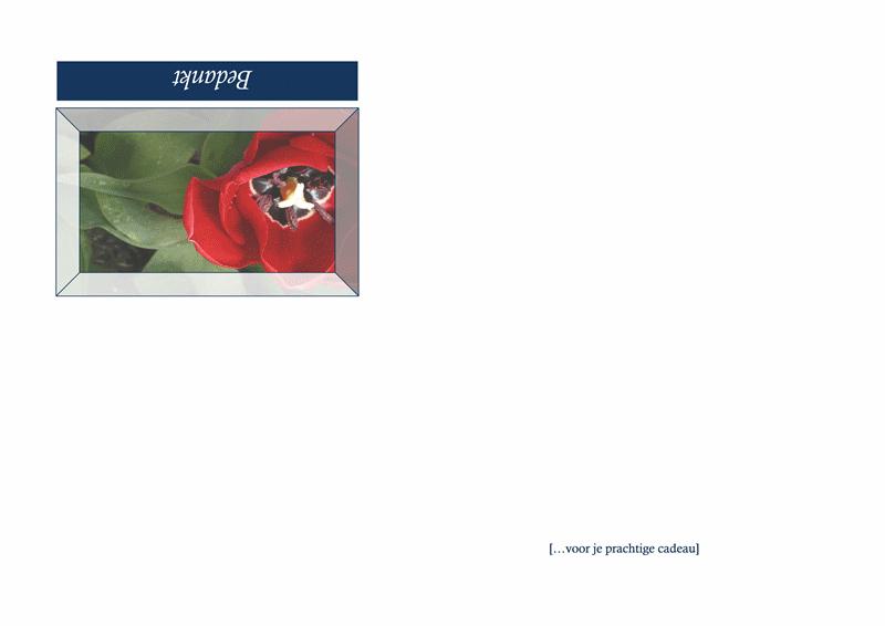 Bedankkaart (ontwerp met bloemen)