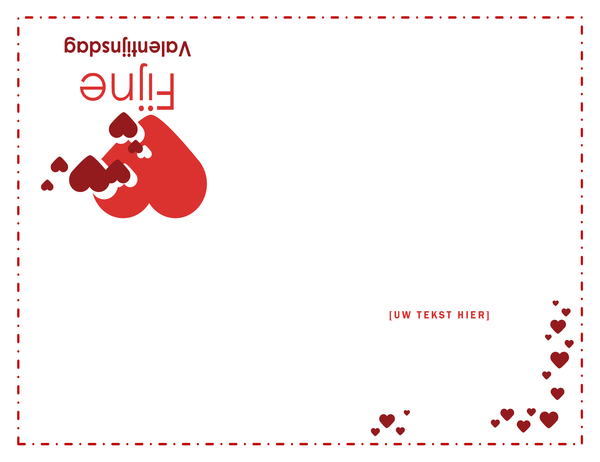 Valentijnskaart (blanco binnenin)