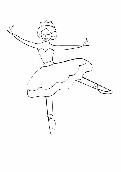 Kleurplaat (ontwerp met balletdanseres)