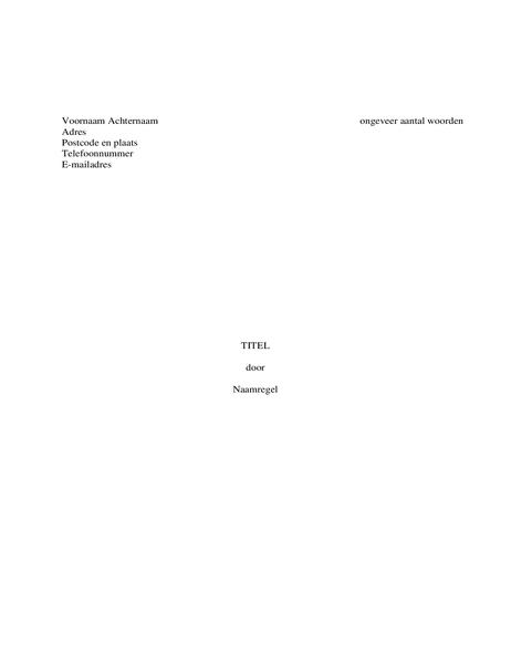 Manuscript van boek