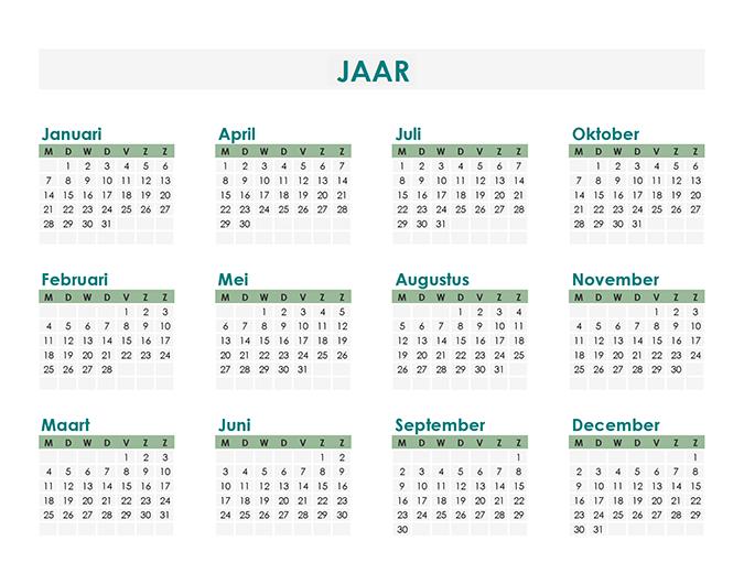 Calendar Creator (willekeurig jaar)