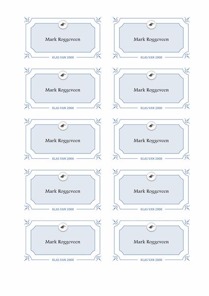 Naamkaartjes afstuderen (formeel ontwerp)