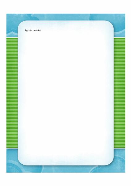 Briefpapier (ontwerp met wolken)