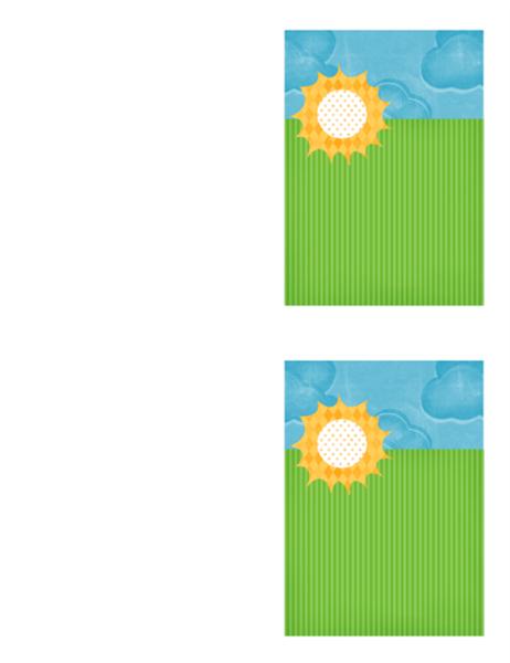 Bedankkaart (ontwerp met wolken)