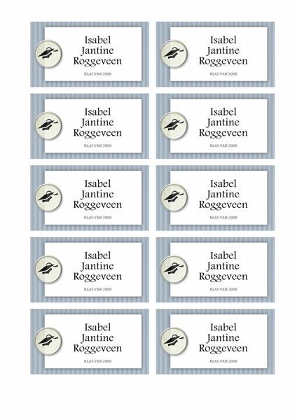 Naamkaartjes afstuderen (ontwerp met patronen)