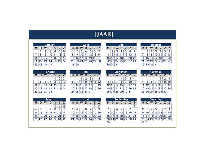 Kalender (willekeurig jaar)