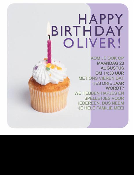Uitnodiging Verjaardag