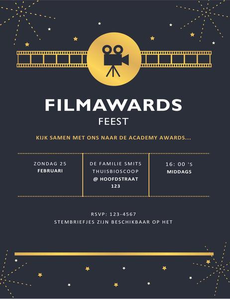 Filmprijzen uitreikingsfeest uitnodiging