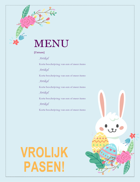 Menu Paasfeest