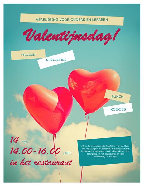 Hartballonnen Valentijnsflyer