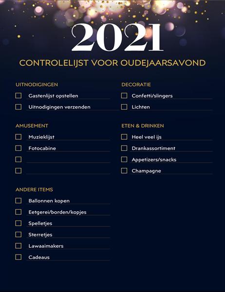 Oudjaarsfeest-checklist