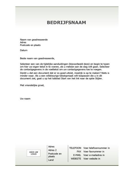 Zakelijk briefpapier (eenvoudig ontwerp)