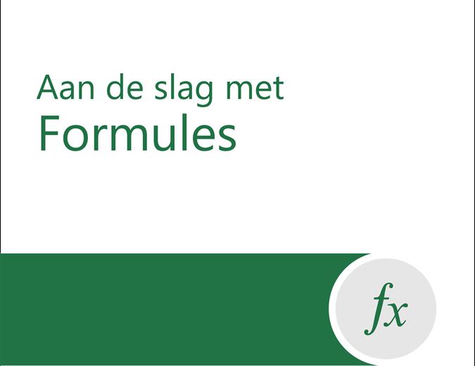 Formule-zelfstudie