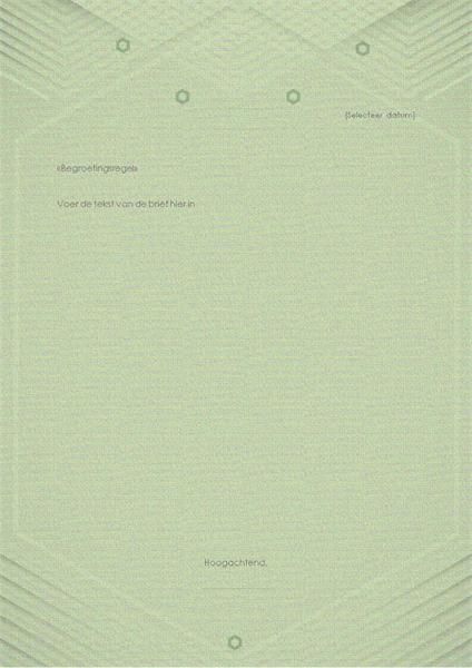 Sjabloon voor persoonlijke brieven (elegant grijsgroen ontwerp)
