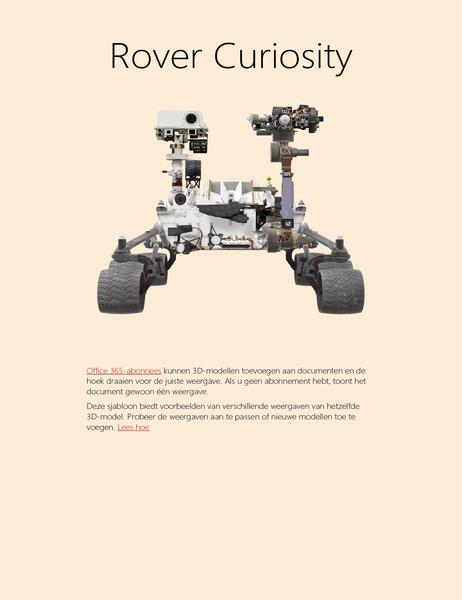 Wetenschappelijk rapport in 3D in Word (Mars Rover-model)