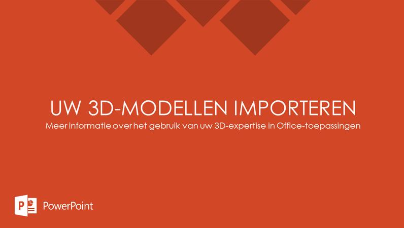Uw 3D-modellen importeren