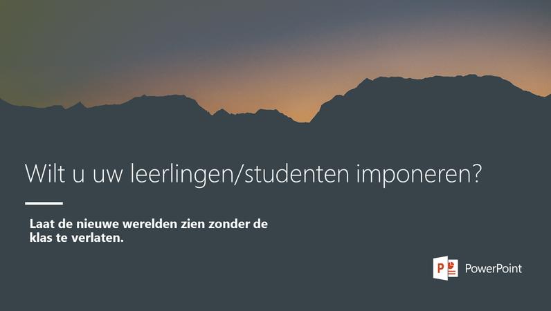 Wilt u uw leerlingen/studenten imponeren?