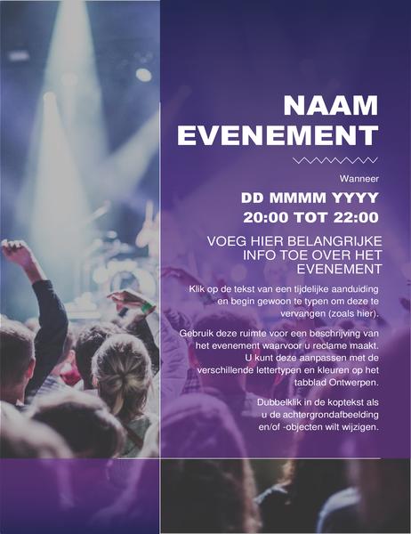Folder voor een cultureel evenement