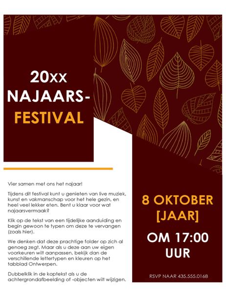 Folder voor najaarsfestival