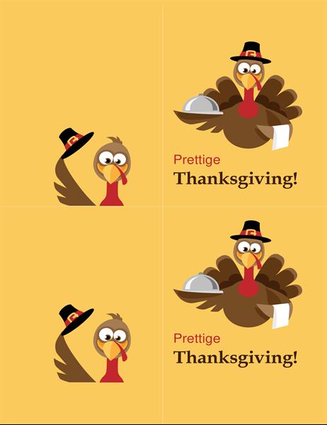 Vrolijke kalkoen Thanksgiving-kaart