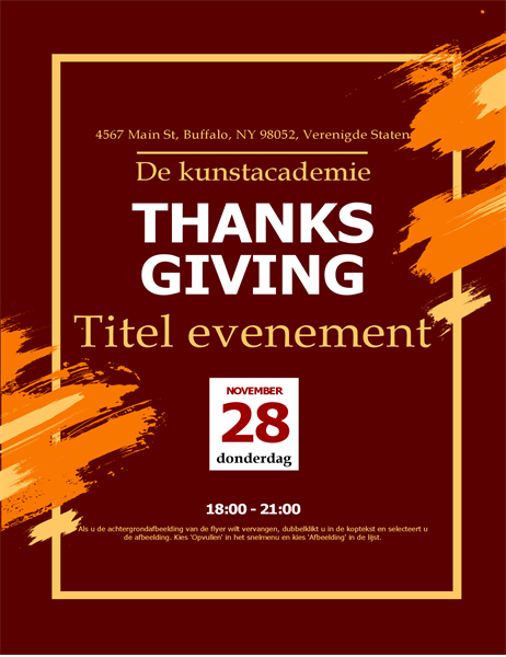 Moderne flyer Thanksgiving