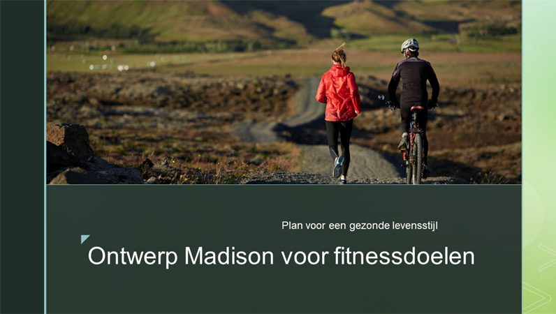 Ontwerp Madison voor fitnessdoelen