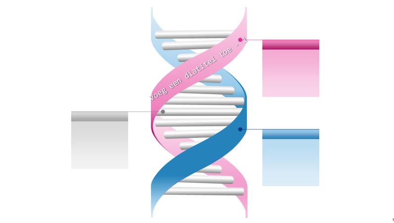 DNA-graphic als dubbele helix