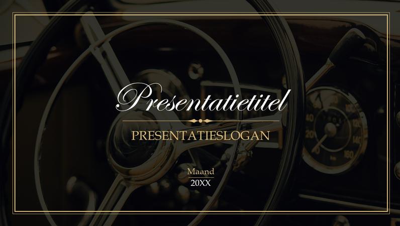 Vintage presentatie