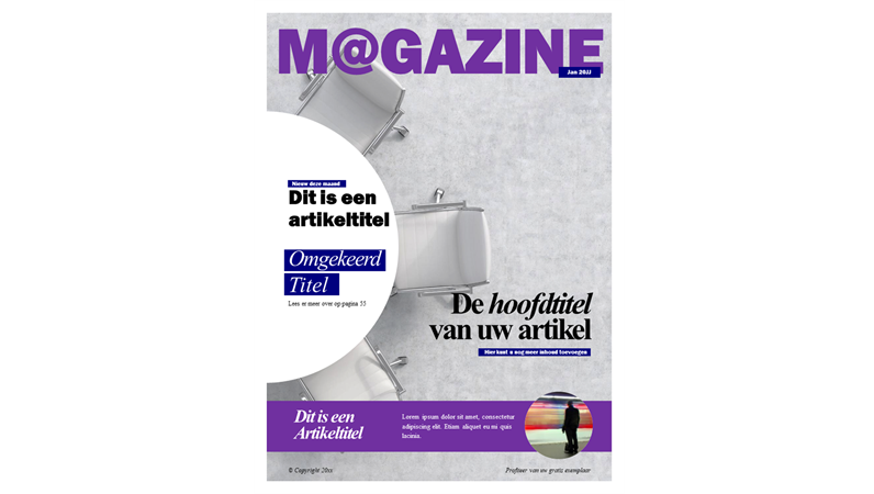 Omslag voor social magazine