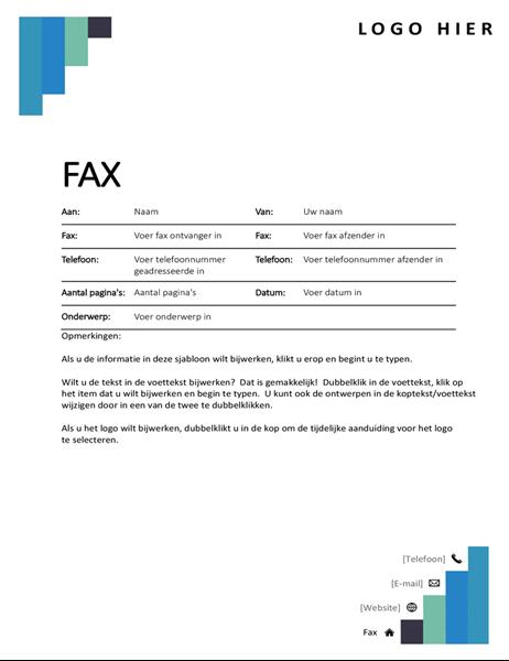 Faxvoorblad met blauwe trap