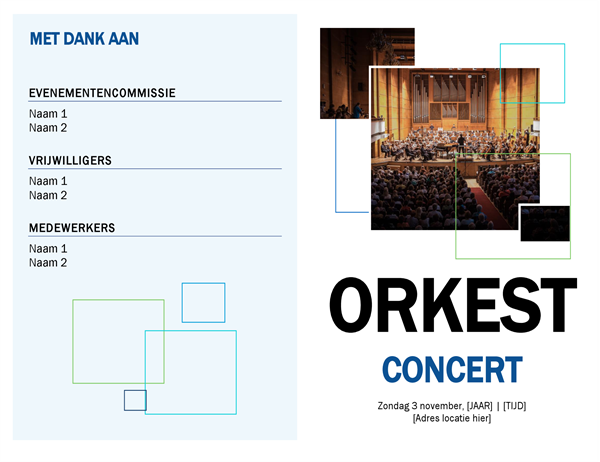 Concertprogramma voor band