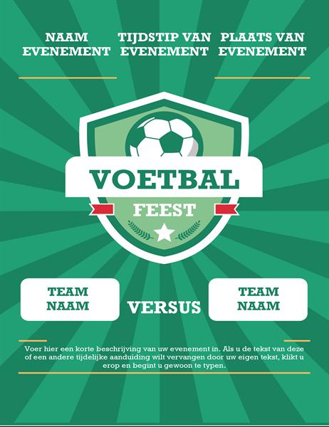 Flyer voor voetbalwedstrijd (internationaal)