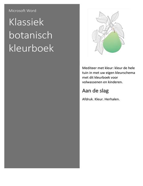 Klassiek botanisch kleurboek