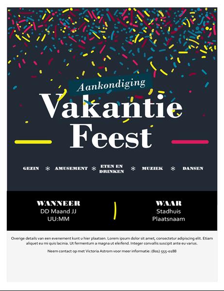 Feestdag evenement flyer