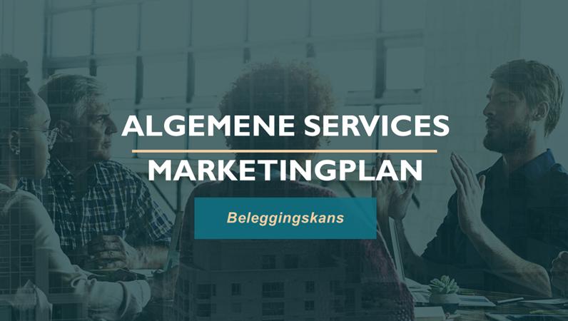 Professioneel marketingplan voor services