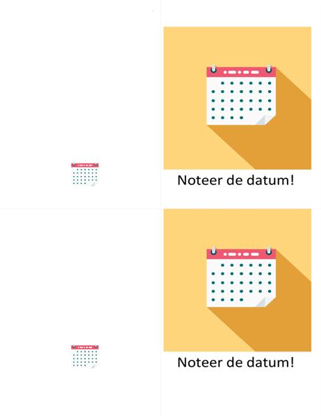 'Noteer de datum'-kaart voor festiviteit