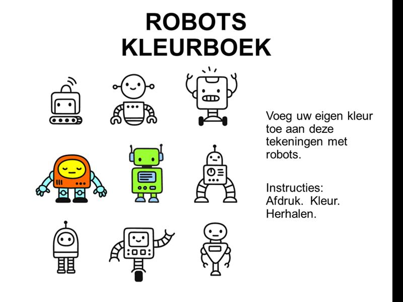 Robots kleurboek