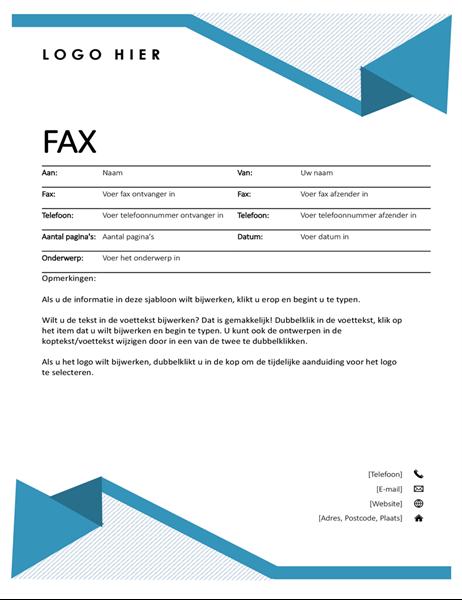 Faxvoorblad Krijtstreep