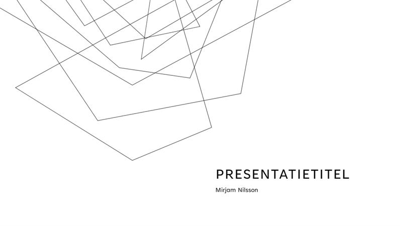 Minimalistische presentatie